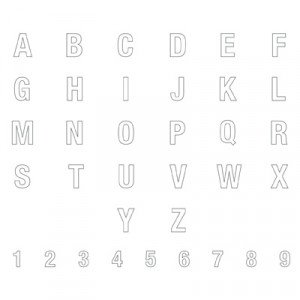 135235 ABC 123 Outline Alphabet