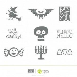 Halloween Hello Stamp Brush Set 135244