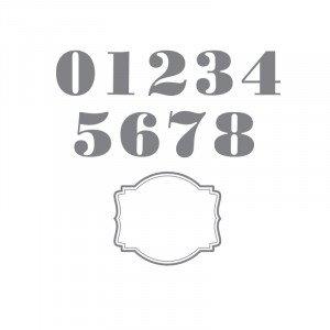 136676 Morning Post Stamp Brush Numbers Set