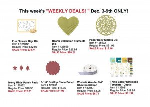 Weekly Deals Dec 3 - 9 2013