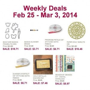 Weekly Deals Feb 25 - Mar 3 2014