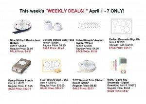 Weekly Deals April 1 - 7